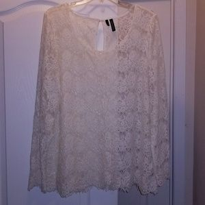 Maurices size 2 cream lace top